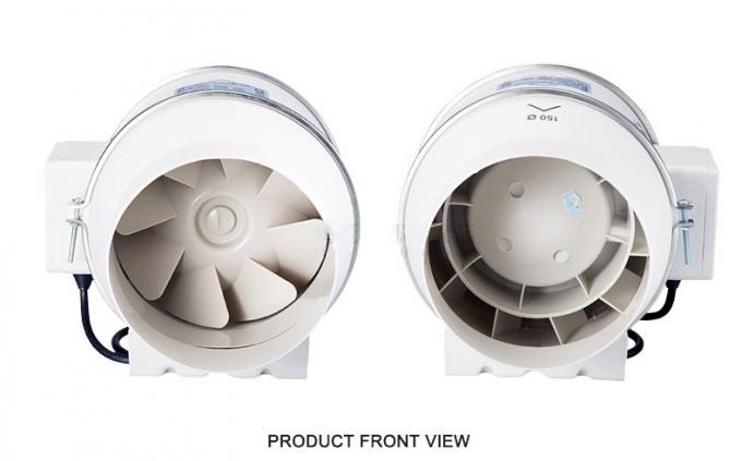 Detachable Diagonal Flow Inline Duct Booster Fan Blower ABS Engineering Plastic High Low Speed