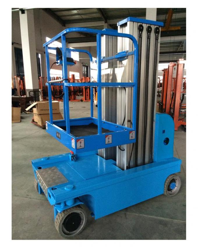 Electric Double Mast Forklift Aluminum Alloy By Automatic Electric Lift Platform 200kg Walking Load