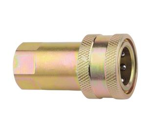 China Reusable Brass Hydraulic Pipe Fittings , Hydraulic Quick Coupler Close Type ISO7241-A G-NPT supplier