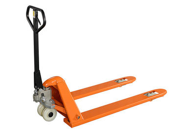 China Ultra Low Hydraulic Hand Pallet Jack Two Tons Manual 45 Steel Q235 Material supplier
