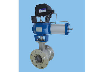 China Eccentric Rotary Plug Control Valve DN25mm~ 300mm No Static Seal Dynamic Seal supplier