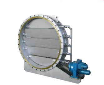 China Round High Performance Butterfly Valves Air Operated Multi Blade High Temperature Resistant supplier