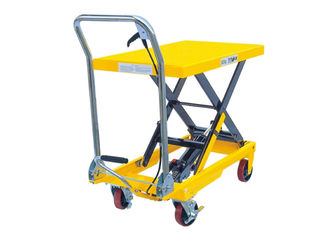 China Mobile Hydraulic Scissor Lift Trolley 1025 Mm Lifting Manual 800kg Load 1220*610*60 Mm supplier