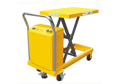 China Over 19 Foot Hydraulic Scissor Lift Platform Truck Mold Carriy 500kg Load Flatbed Industrial supplier
