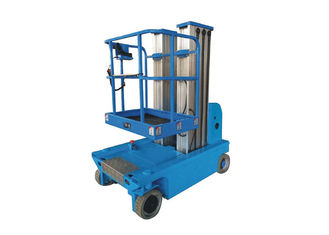 China Electric Double Mast Forklift Aluminum Alloy By Automatic Electric Lift Platform 200kg Walking Load supplier