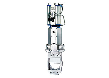 China Pneumatic Instrumentation Control Valves Stainless Steel , Square Gate Valve DF Series supplier