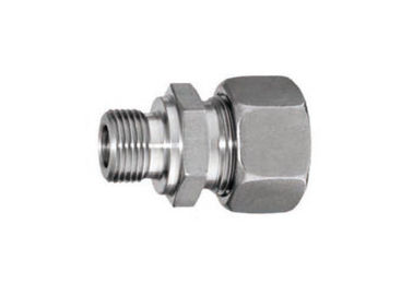 China Stainless Steel Stud Couplings Hydraulic Pipe Fittings BSPP Inch Thread With Hard Seal supplier