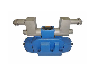 China Electro - Hydraulic Control Valve , Hydraulic Directional Valve In Blue Color supplier