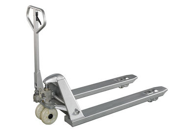 China Industrial 3 Ton Galvanized Pallet Jack Silver Color 2500Kg - 3000Kg Corrosion Resisting distributor
